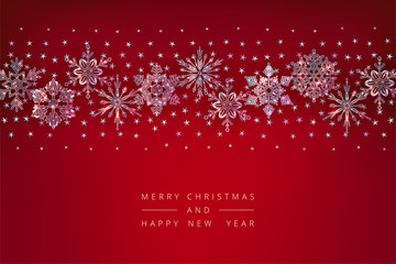 Christmas Background Crystal Snowflakes