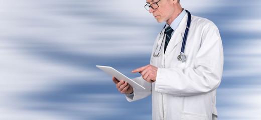 Doctor holding medical file