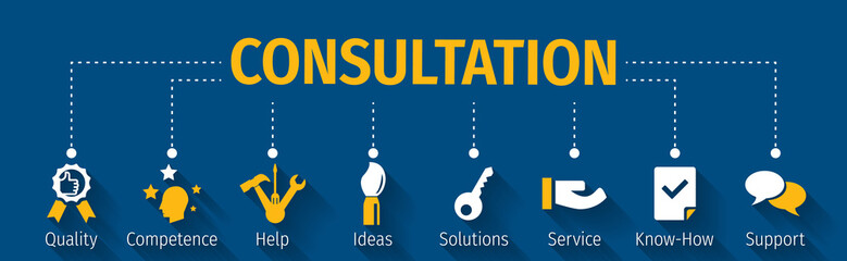 Consultation business with icon
