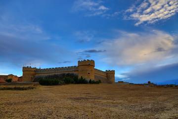Fortaleza artillera, Castillo de Grajal de Campos, León, España.