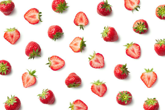 Pattern of fresh strawberries