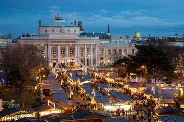 Printed roller blinds Vienna Vienna Christmas Market near Burgtheater