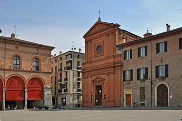Imola, Italy, Matteotti square in the center of the city.