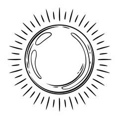 Magic ball with rays.