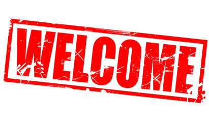 Welcome in red frame