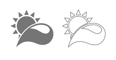 sun with drop