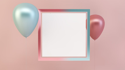 balloons with empty frame
