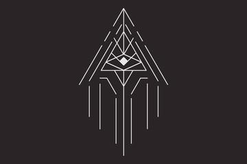 Geometric arrow with the eye