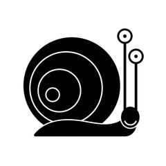 silhouette of a snail on a brick wall vector