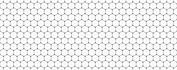 Vector banner design, abstract geometric pattern with lines, white background with hexagon pattern.