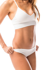 Woman Flaunting Toned Abs