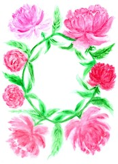 Flower frame art