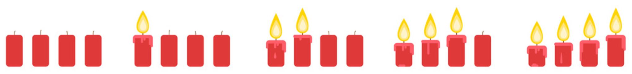 Wall Mural - Advent Kerzen Weihnachte