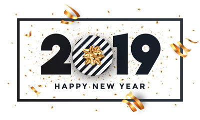 Happy new year 2019 - Banner with frame