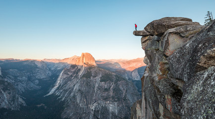 Hiker in Yosemite National Park, California, USA