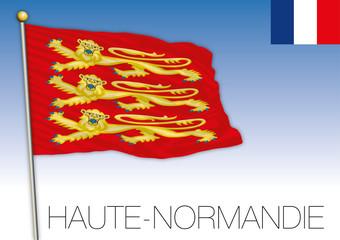 Haute Normandie regional flag, France, vector illustration