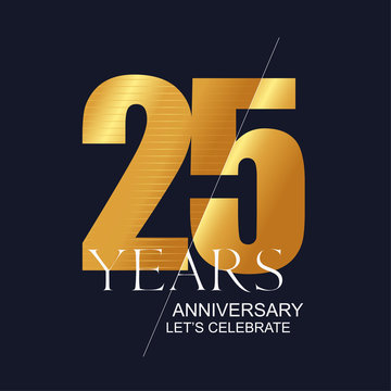 25 years anniversary vector icon, symbol, logo. Graphic design element