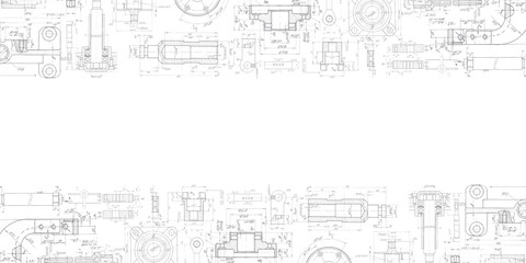 Mechanical Engineering drawing . Technical drawing background