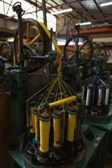 Thread roll machine in rope making industry