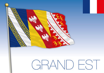 Grand Est regional flag, France, vector illustration