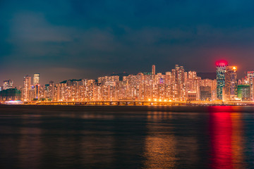 Business Towers and Residential Apartment Buildings in Hong Kong