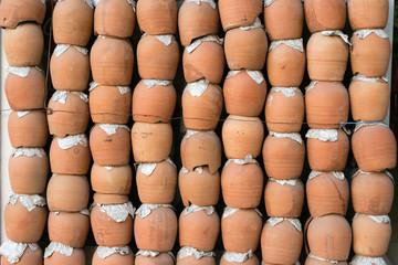 Wall made of Kebab Pottery