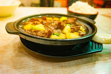 Delicious food iron plate beef