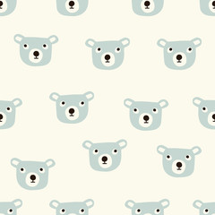 seamless bear pattern
