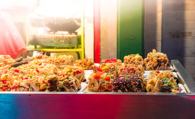 Traditional pastry stall in China