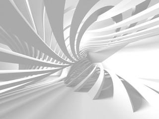Futuristic White Architecture Design Background Wall mural