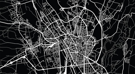 Urban vector city map of Leon, Spain