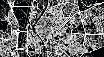 Urban vector city map of Seville, Spain