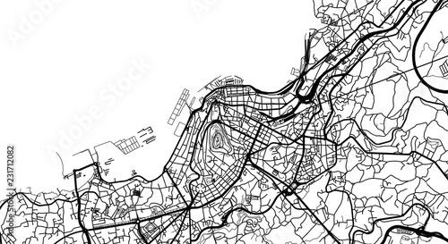 Urban Vector City Map Of Vigo Spain Stock Image And Royalty Free