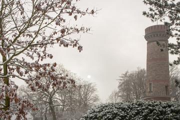 Toelleturm im Winternebel, Wuppertal