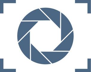 Focus icon. Vector illustration. Aperture diaphragm icon. Camera icon isolated. camera shutter aperture icons