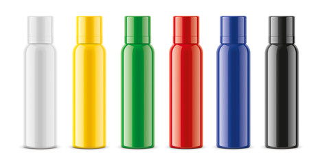 Sprayer bottles mockups set