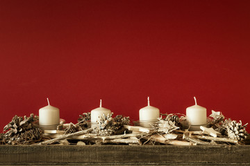 Advent time four candles not burning
