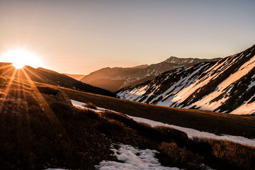 Fototapete - Snowy Colorado Rocky Mountains Sunrise - Grizzly Peak A, Sawatch Range
