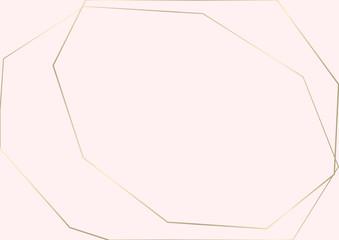 Trendy minimal chic gold geometric gradient background
