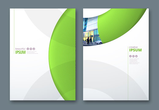 Business Report Cover Layouts with Circles