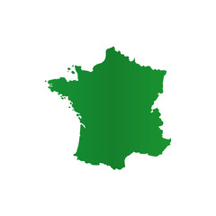 map of France. Green color