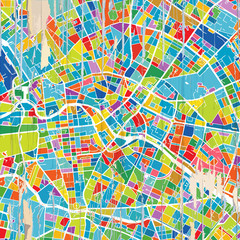 Colorful Berlin map