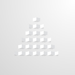 paper Christmas tree on the light background