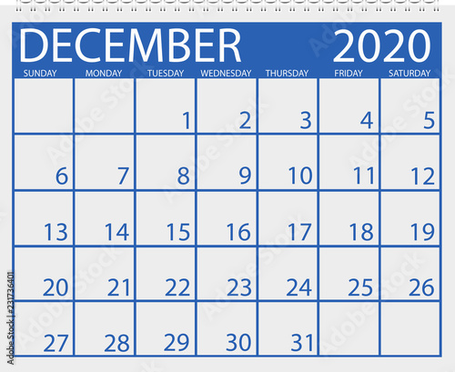 Calendar December 2020.Calendar December 2020 Stock Image And Royalty Free Vector Files On