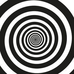 Vector illustration of psychedelic spiral with radial rays, twirl, twisted comic effect, vortex backgrounds. Hypnotic spiral