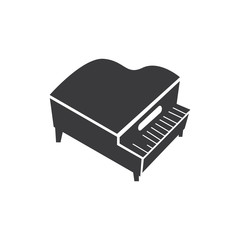 Grand piano vector icon