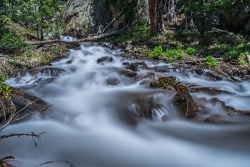 Wall Mural - Enchanting Mountain Stream.  River near Leadville in the Colorado Rocky Mountains, Mt. Massive & Mt. Elbert