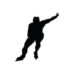Skating man silhouette