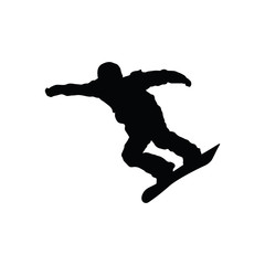 Snowboarder man silhouette