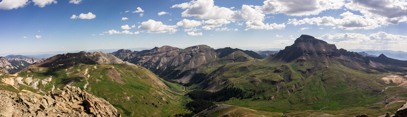 Wall Mural - View of the Colorado Rocky Mountains.  Taken from the summit of Matterhorn Peak, Uncompahgre Peak can be seen in the distance.